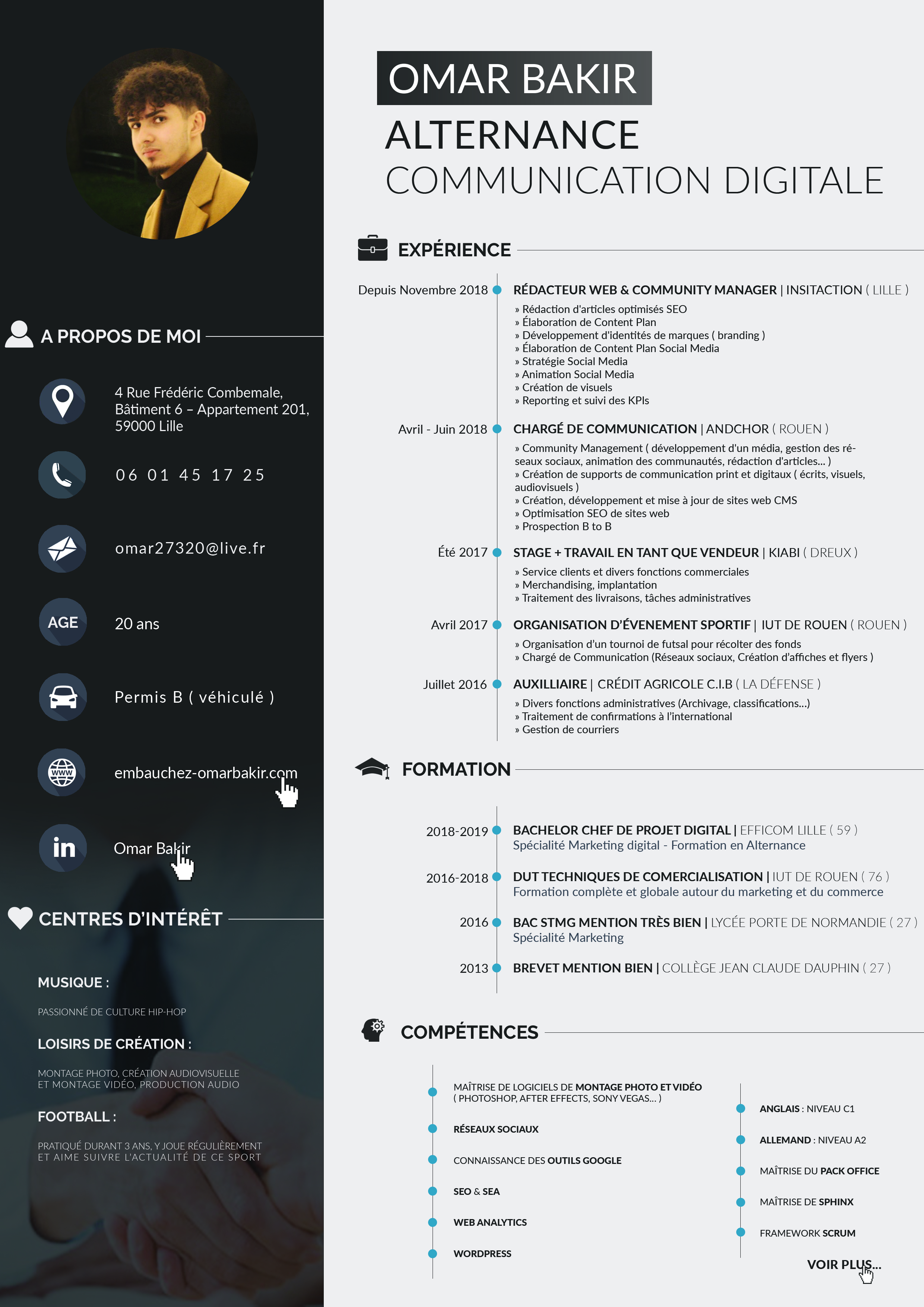 CV Omar Bakir - Alternance Communication et Marketing digital 2019